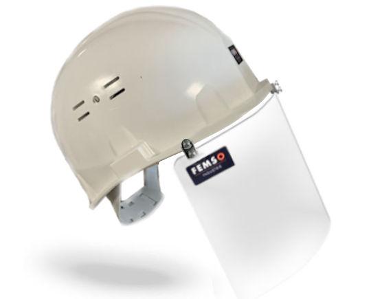 Visière de protection covid casque chantier BTP
